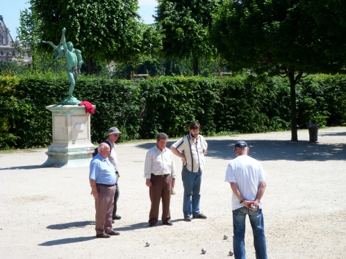 Men Playing Bocci
